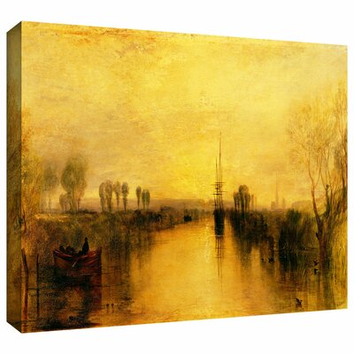 'Chichester Canal' by William Turner Painting Print on Wrapped Canvas Size: 18