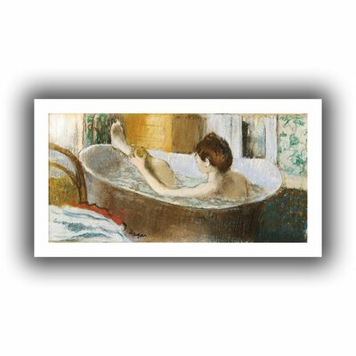 'Woman in her Bath, Sponging her Leg' by Edgar Degas Painting Print on Rolled Canvas Size: 16