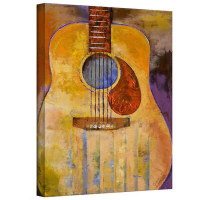'Acoustic Guitar' by Michael Creese Painting Print on Wrapped Canvas 0cre001a0810w