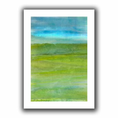 'Landscape Iceland' by Cora Niele  Painting Print on Canvas Size: 36