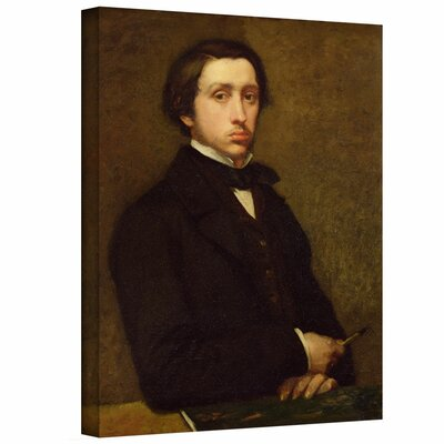 'Self Portrait II' by Edgar Degas Painting Print on Wrapped Canvas Size: 32