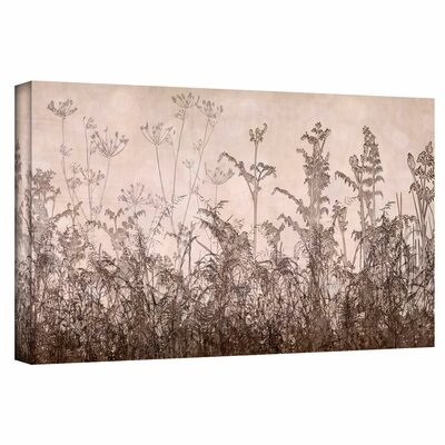 'Wildflowers Brown' Photographic Print on Wrapped Canvas Size: 12