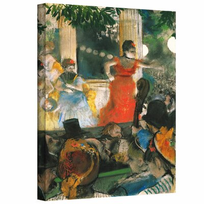 'Café Concert at Les Ambassadeurs' by Edgar Degas  Painting Print on Wrapped Canvas Size: 24