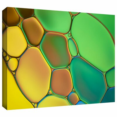 'Stained Glass III' by Cora Niele Graphic Art on Wrapped Canvas Cniele-074-16x24-w