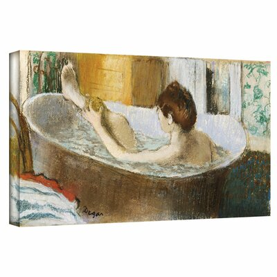 'Woman in her Bath, Sponging her Leg' by Edgar Degas Painting Print on Wrapped Canvas Size: 12
