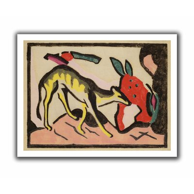 'Faultier' by Franz Marc Painting Print on Canvas Size: 22