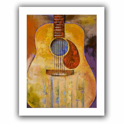 Acoustic Guitar' by Michael Creese Painting Print on Rolled Canvas Creese-001-18x14