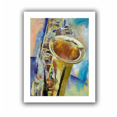 'Saxophone' by Michael Creese Painting Print on Canvas Size: 52