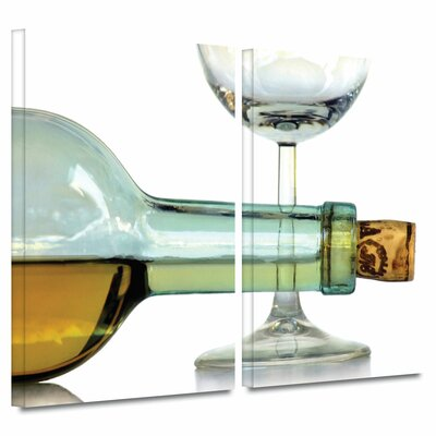 'Bottle Plus Glass' by Dan Holm 2 Piece Photographic Print on Wrapped Canvas Set 0hol007b2432w