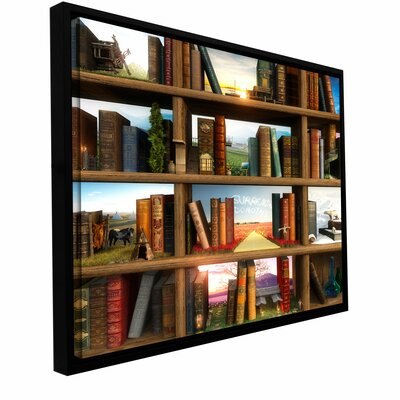 """Art Wall 'Story World' by Cynthia Decker Floater Framed Graphic Art Gallery-Wrapped on Canvas - Size: 18"""" H x 18"""" W x 2"""" D at Sears.com"""