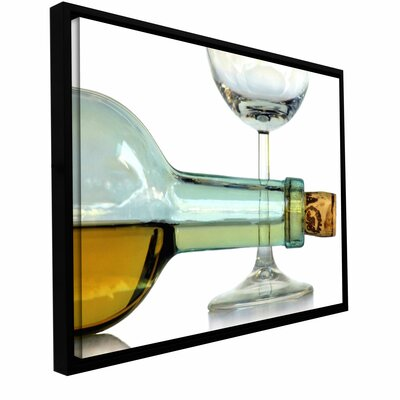 'Bottle Plus Glass' by Dan Holm Framed Photographic Print on Wrapped Canvas 0hol007a0812f
