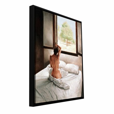 """'September Morning' by John Worthington Framed Painting Print on Wrapped Canvas Size: 8"""" H 12"""" W 1wor006a0812f"""