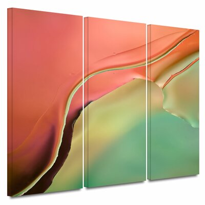 'Flow Abstract I' by Cora Niele 3 Piece Graphic Art on Wrapped Canvas Set Size: 32