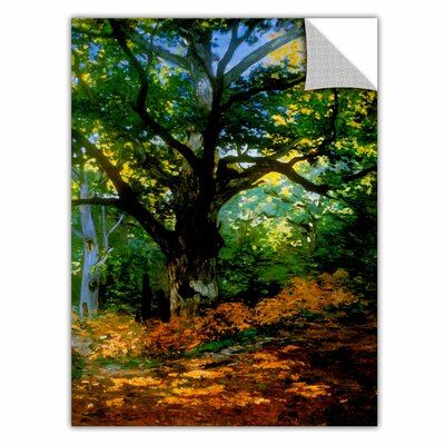 "Image of ArtApeelz 'Bodmer at Oak at Fountainbleau' by Claude Monet Painting Print Removable Wall Decal Size: 48"" H x 36"" W x 0.1"" D"