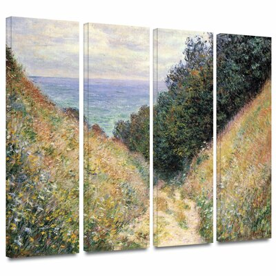 'Footpath' by Claude Monet 4 Piece Painting Print on Wrapped Canvas Set Size: 24