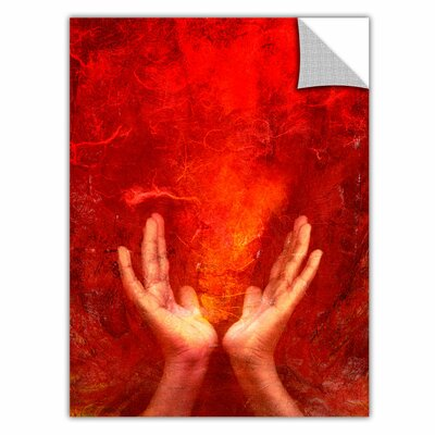 ArtApeelz 'Chakra Fire' by Elena Ray Graphic Art Removable Wall Decal 0ray048a1824p