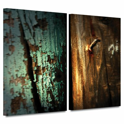 'Wood and Nail' by Mark Ross 2 Piece Photographic Print on Wrapped Canvas Set Size: 32