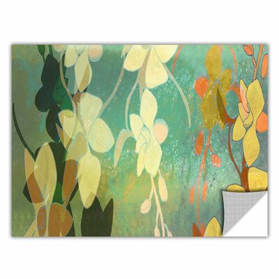 ArtApeelz 'Shadow Florals' by Jan Weiss Graphic Art on Canvas Size: 12