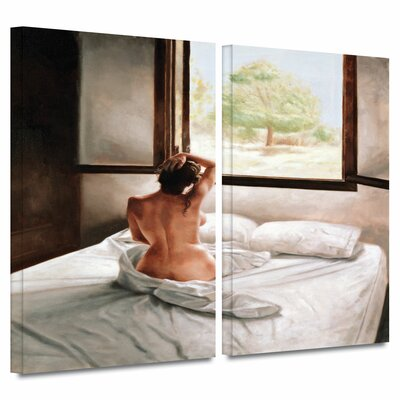 """'September Morning' by John Worthington 2 Piece Painting Print on Wrapped Canvas Set Size: 32"""" H x 48"""" W x 2"""" D 1wor006b3248w"""