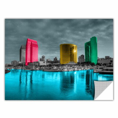 ArtApeelz 'San Diego' by Revolver Ocelot Photographic Print on Wrapped Canvas Size: 12