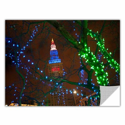 Terminal Tower by Cody York Art Appeelz Removable Wall Mural Size: 24