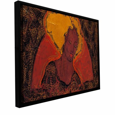 "'Leopard Sister' by Gloria Rothrock Framed Painting Print on Wrapped Canvas Size: 6"" H 12"" W 0rot012a0612f"