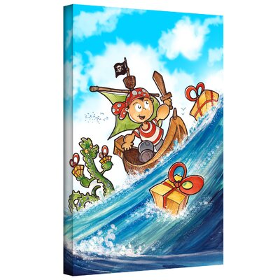 'Kid Pirate' by Luis Peres Graphic Art on Wrapped Canvas Size: 18