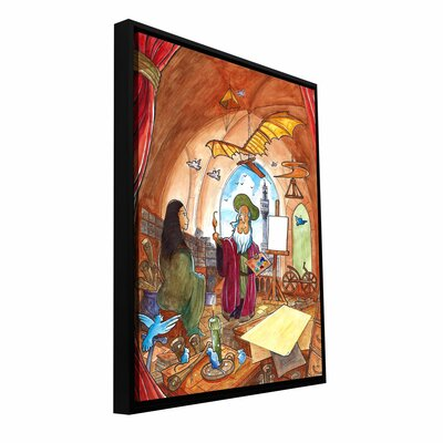 'Leo and Mona' by Luis Peres Framed Painting Print Size: 24