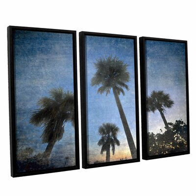 Palms At Sunset by Antonio Raggio 3 Piece Framed Graphic Art