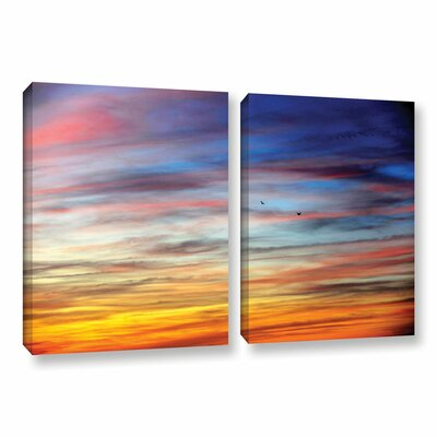 Spacious Skies by Antonio Raggio 2 Piece Photographic Print on Wrapped Canvas Set Size: 32