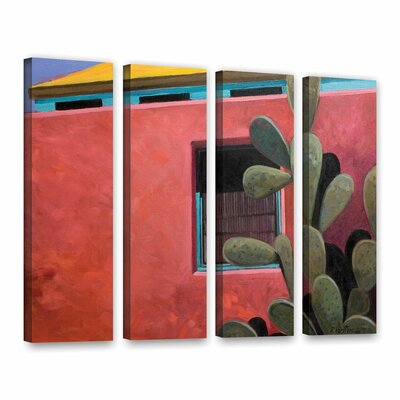 Adobe Colour by Rick Kersten 4 Piece Painting Print on Wrapped Canvas Set 0ker070d3648w