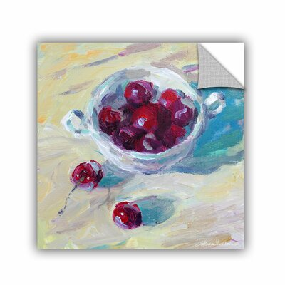 Cup Of Cherries by Svetlana Novikova Art Appeelz Removable Wall Mural Size: 14