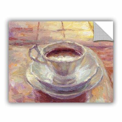 "Coffee Cup by Svetlana Novikova Art Appeelz Removable Wall Mural Size: 14"" H x 18"" W x 0.1"" D 0nov013a1418p"