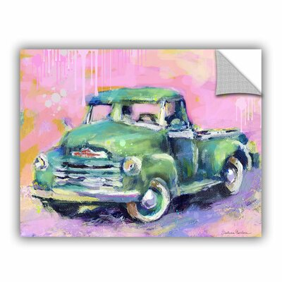"Art Wall Vintage Chevy Truck by Svetlana Novikova Art Appeelz Removable Wall Art Graphic - Size: 24"" H x 32"" W x 0.1"" D at Sears.com"