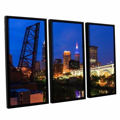 Art Wall Cleveland 21 by Cody York 3 Piece Floater Framed Canvas Set at Sears.com