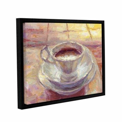 """Coffee Cup by Svetlana Novikova Framed Painting Print on Wrapped Canvas Size: 14"""" H x 18"""" W x 2"""" D 0nov013a1418f"""