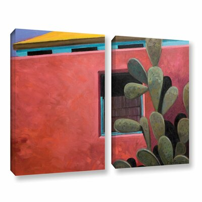 Adobe Colour by Rick Kersten 2 Piece Painting Print on Wrapped Canvas Set 0ker070b1824w