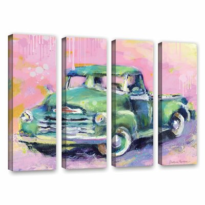 "Art Wall Vintage Chevy Truck by Svetlana Novikova 4 Piece Gallery-Wrapped Canvas Set - Size: 36"" H x 48"" W x 2"" D at Sears.com"