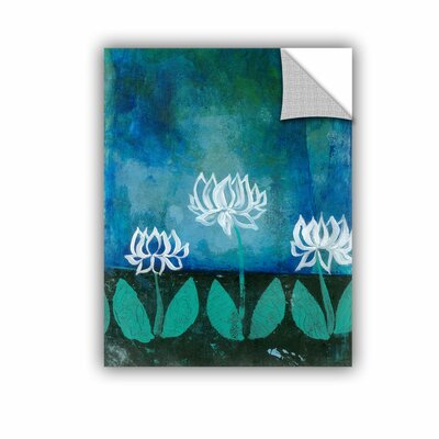 ArtWall Lotus Blossom by Elena Ray Art Appeelz Removable Wall Mural 0ray007a1418p