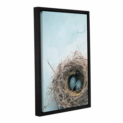 "'Blue Nest' by Elena Ray Framed Photographic Print on Wrapped Canvas Size: 36"" H x 24"" W 0ray017a2436f"
