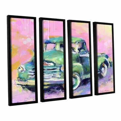 "Art Wall Vintage Chevy Truck by Svetlana Novikova 4 Piece Floater Framed Canvas Set - Size: 36"" H x 48"" W x 2"" D at Sears.com"