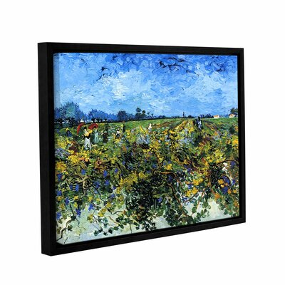 Green Vineyard by Vincent Van Gogh Framed Painting Print on Wrapped Canvas 0van025a3648f