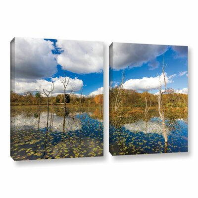 Beaver Marsh by Cody York 2 Piece Photographic Print on Wrapped Canvas Set Size: 24