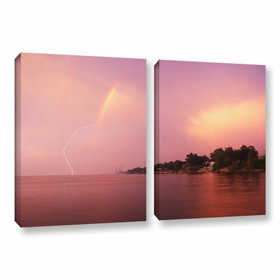 Rainbows And Lightning by Dan Wilson 2 Piece Photographic Print on Wrapped Canvas Set Size: 18