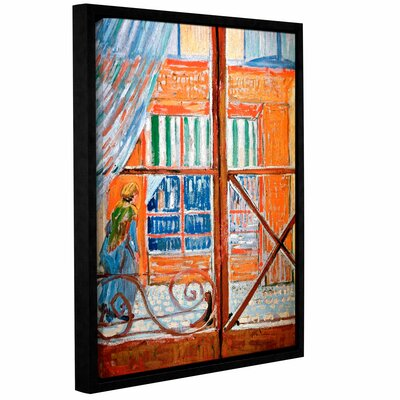 Pork-Butchers Shop Through The Window by Vincent Van Gogh Framed Painting Print on Wrapped Canvas 0van029a0810f
