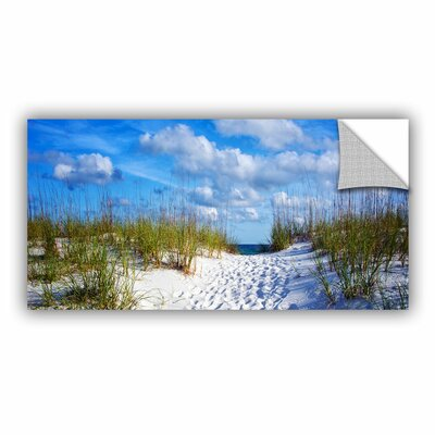 Pathway In The Sand by Antonio Raggio Art Appeelz Removable Wall Mural Size: 12