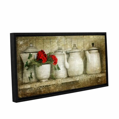 Flower with Pots by Antonio Raggio Framed Graphic Art Size: 18