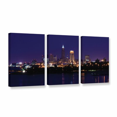 Cleveland 16 by Cody York 3 Piece Photographic Print on Wrapped Canvas Set Size: 24