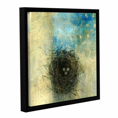 "Bird Nest by Elena Ray Framed Graphic Art on Wrapped Canvas Size: 14"" H x 14"" W 0ray028a1414f"