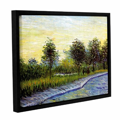 Lane In Voyer D'Argensom Park At Asnieres by Vincent Van Gogh Framed Painting Print on Wrapped Canvas 0van098a0810f